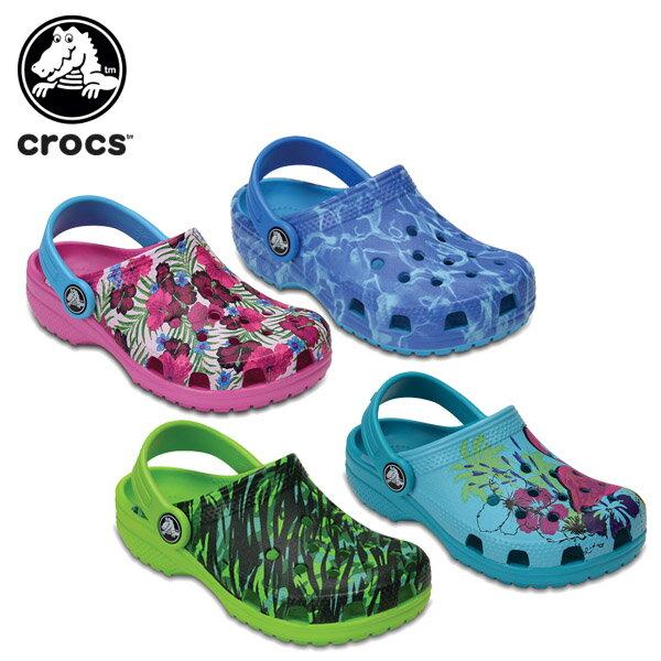 【30%OFF】クロックス(crocs) クラシック グラフィック クロッグ キッズ(classic graphic clog kids)/キッズ/サンダル/シューズ/子供用[r][C/A]