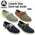 クロックス(crocs) ビーチライン レースアップ ボート(beach line lace-up boat)/メンズ/男性用/スニーカー/シューズ/【15】【ポイント10倍対象外】