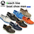クロックス(crocs) ビーチライン ボート シュー メン (beach line boat shoe men)/メンズ/男性用/スニーカー/シューズ/【35】
