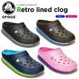 ショッピングCROCS クロックス(crocs) クロックス レトロ ラインド クロッグ(crocs retro lined clog) /メンズ/レディース/男性用/女性用/サンダル/シューズ/【30】【あす楽対応】