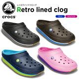 ����å���(crocs) ����å��� ��ȥ� �饤��� ����å�(crocs retro lined clog) /���/��ǥ�����/������/������/�������/���塼��/��30�ۡڤ������б���