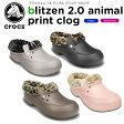 クロックス(crocs) ブリッツェン 2.0 アニマル プリント クロッグ(blitzen 2.0 animal print clog) /メンズ/レディース/男性用/女性用/サンダル/シューズ/【20】