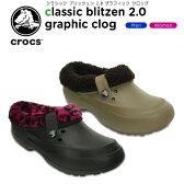 クロックス(crocs) クラシック ブリッツェン 2.0 グラフィック クロッグ(classic blitzen 2.0 graphic clog ) /メンズ/レディース/男性用/女性用/サンダル/シューズ/[r]