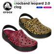 クロックス(crocs) クロックバンド レオパード 2.0 クロッグ(crocband leopard 2.0 clog) /メンズ/レディース/男性用/女性用/サンダル/シューズ/[r]