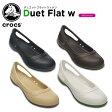 クロックス(crocs) デュエット フラット ウィメン(duet flat w) /レディース/女性用/シューズ/フラットシューズ/【40】