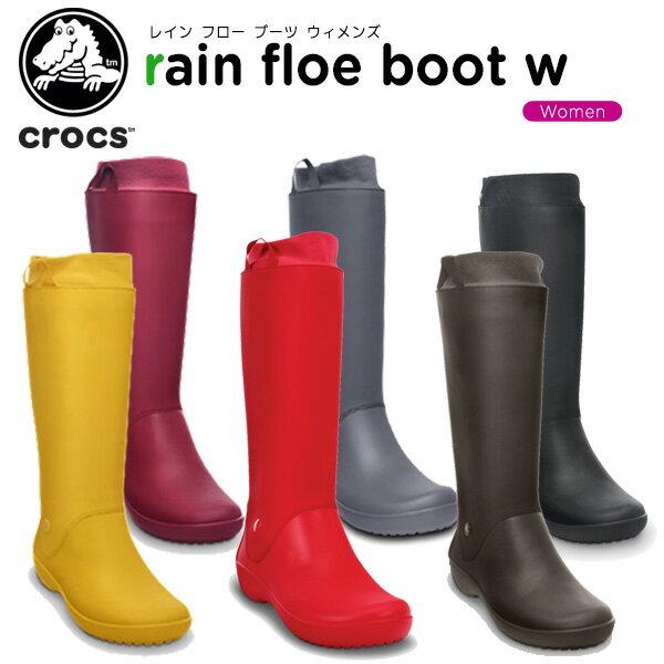クロックス(crocs) レインフロー ブーツ ウィメンズ(rain floe boot w) /レディース/女性用/シューズ/ブーツ/長靴/[H][r][C/B]【40】【ポイント10倍対象外】