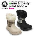クロックス(crocs) ウォーム&トースティ プラッド ブーツ ウィメン(warm & toasty plaid boot w)/レディース/ブーツ/【50】【あす楽対応】