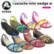 クロックス(crocs) ワラチェ ミニ ウェッジ (huarache mini wedge w) /レディース/女性用/サンダル/ウェッジサンダル/シューズ/【30】