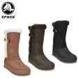 クロックス(crocs) モデッサ シンセティック スエード ボタン ブーツ ウィメン(modessa synthetic suede botton boot w)/レディース/ブーツ/ロングブーツ/【40】【ポイント10倍対象外】
