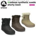 クロックス(crocs) モデッサ シンセティック スエード ショーティ ブーツ ウィメン(modessa synthetic suede shorty boot w)/レディース/ブーツ/【あす楽対応】