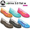 クロックス(crocs) アドリナ 3.0 フラット ウィメン(adrina 3.0 flat w) /レディース/女性用/シューズ/フラットシューズ/【30】【20%OFFクーポン対象外】