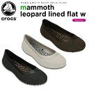 【31%OFF】クロックス(crocs) マンモス レオパード ラインド フラット ウィメン(mammoth leopard lined flat w) /レデ...