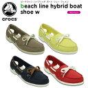 クロックス(crocs) ビーチライン ハイブリッド ボート シュー ウィメン (beach line hybrid boat shoe w )/レディース/女性用/サンダル/シューズ/フラットシュー