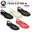 クロックス(crocs) オリビア 2.0 フラット ウィメン(olivia 2.0 flat w ) /レディース/女性用/シューズ/フラットシューズ