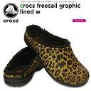 【30%OFF】クロックス(crocs) クロックス フリーセイル グラフィック ラインド ウィメン(crocs freesail graphic lined w) /レディース/女性用/シューズ/サンダル[r]【ポイント10倍対象外】