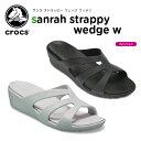 クロックス(crocs) サンラ ストラッピー ウェッジ ウ...