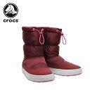 ショッピングクロックス レディース 【35%OFF】クロックス(crocs) ロッジポイント シャイニー プルオン ブーツ ウィメン(lodgepoint pull-on boot w) レディース/ブーツ[C/B]