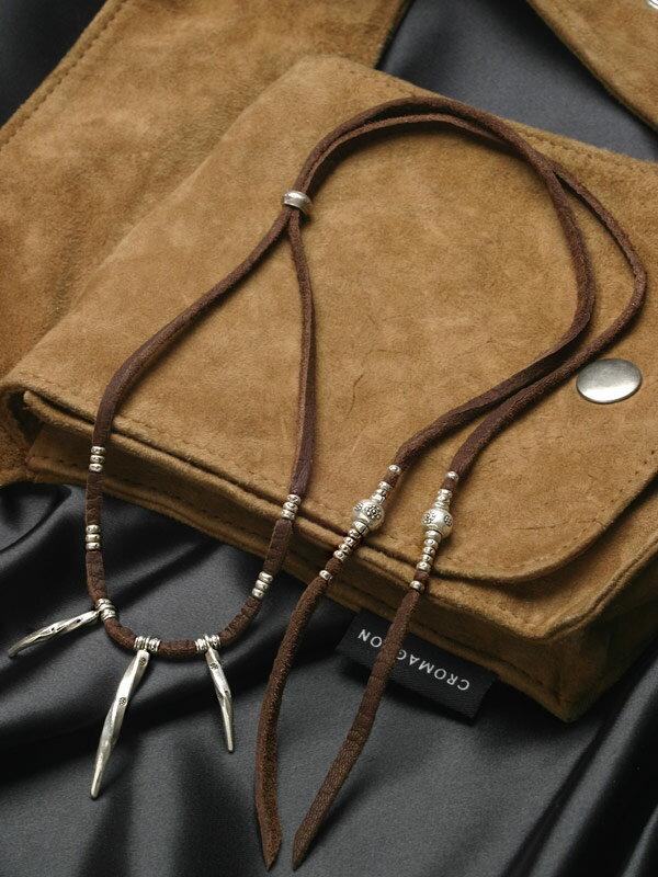 カレン族 カレンシルバー 鹿革紐 ネックレス メンズ / レディース 爪