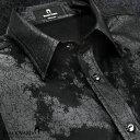 長袖シャツ スリム ソフト PUレザー ヴィンテージ 水洗可 合皮 シャツ 日本製 メンズ(ブラック黒) 925834 0601楽天カード分割 02P03Dec16