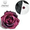 アクセサリー 薔薇 バラ 造花 光沢 ブローチ ラペルピン ブートニエール メンズ(ワイン) 1120201 0601楽天カード分割