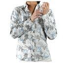 シャツ アロハシャツ 和柄 獅子 狛犬 波輪 跳ね波 レギュラーカラー 長袖 アロハ 日本 メンズ(ホワイト白) 935085 0601楽天カード分割