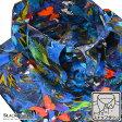 ドレスシャツ ドゥエボットーニ 蝶 鳥 ボタニカル 綿サテン スナップダウン パーティー シャツ(ブルー青) 161231