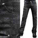 ショッピングブーツカット パンツ バンダナ ペイズリー シューカット 柄パン 日本製 メンズ スリム ストレッチ ブーツカット ボトムス mens(ブラック黒) 933151