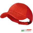 VIOLA rumore ヴィオラ ビオラ メッシュキャップ ダイヤ柄 メンズ サイズ調整可能 帽子(レッド赤) 81352