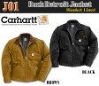 【Carhartt】J001 カーハート ダック デトロイトジャケットブランケットライン ブラック ブラウンDuck Detroit Jacket Blanket Lined COAT (J01)