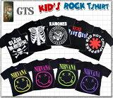 GTS【キッズTシャツ】第2弾!!ロックでクール!アーティスト ロックバンド GREEN DAY MIS FITS Nirvana RAMONES REDHOT CHILI