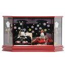 雛人形 親王 ケース飾り 望月麗光作 するがひめ 有職おぼこ hn111 hs1111 幅57cm 極上本頭 六角LEDケース マルーン (203to1118) ひな人形