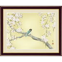 額絵 日本画[花鳥画]春飾り 【桜花に小鳥】 [F4] [森山観月] [G4-BK063-F4]【代引き不可】