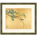 日本の名画 円山応挙 薔薇文鳥(ばらぶんちょう) F8 [g4-bn143-F8] インテリア