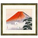 日本画 伊藤渓山 赤富士飛翔(あかふじひしょう) F8 富士山水画 [g4-bf041-F8] インテリア