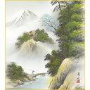 色紙絵 山水画【伊藤渓山】富士清風 富士山水 k1-21b 富士憧憬【代引き不可】
