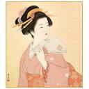 色紙絵 伝統の美人画 【扇を持つ女】 清水玄澄 [K7-002]【代引き不可】