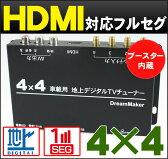 車載4×4フルセグチューナー/地デジチューナー「TUF004」[DreamMaker]