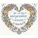 クロスステッチ刺繍キット Bothy Threads - Wedding Samplers - Wedding Heart [ハンドメイド]【刺繍キット 刺繍セット 手芸キット 手作りキット 手芸】