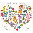 Baby Heart Birth Sampler-Bothy Threadsクロスステッチ刺繍キット