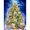 [クロスステッチ刺繍 キット クリスマス 刺繍 キット] HAED(Heaven And Earth Designs) - Teddy Bear Tree 18ct