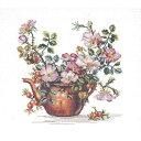 クロスステッチ刺繍キット Eva Rosenstand - Kettle and Flowers