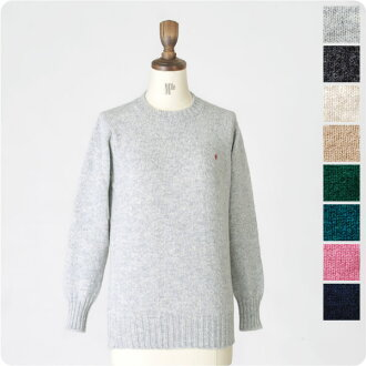gymphlex SimFlex Shetland wool クルーネックプル-over knit and sht-2001 (8 colors) (unisex)