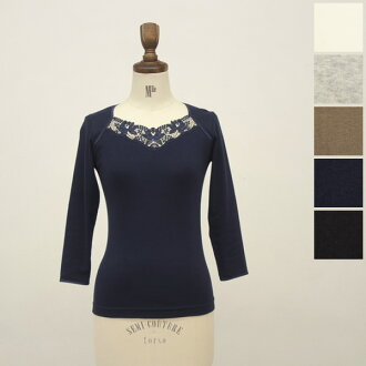 Dolly-Sean ドリーシーン flower lace 3 / 4 スリーブカットソー-m-8123 (5 colors) (M)
