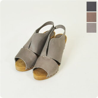 Sanita sanitat design cut oil Reser ウッドヒール Sandals & sn4944 (3 colors)