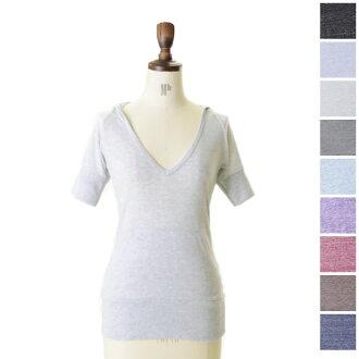 alternative alternative eco heather hoody short sleeve hood T (9 colors) (S)