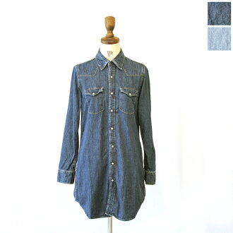 11 / 12 Up to 1:59! D.M.G(DMG) Domingo 6 oz denim ウエスタンシャツワン piece-16-710 e (2 colors) (M-L)