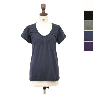 b h ビーアンドエイチ gathered U-neck T shirt-rdb10014 (5 colors) (M)