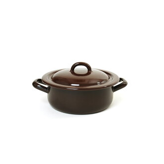 RIESS lease stew pot 16cm 1L/ stew pot brown series enamel pan .0238.0254