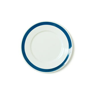 RIESS lease blue line plate 26cm/ white X blue line plate .0503-519