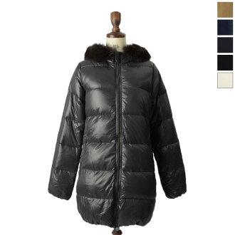 DUVETICA duvetica down / vest Grey Fur-Fin Racoon KAPPA and Kappa フィンラクーン shiny down coat-5334113102・13202 (FEN 32-D.037.00/1057.R-MFG) (5 colors Women's) (S, M, L, LL)